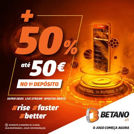 Betano Bónus 50% até 50€
