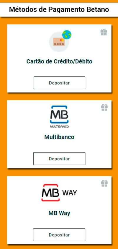 Método de Pagamento Betano para telemóvel